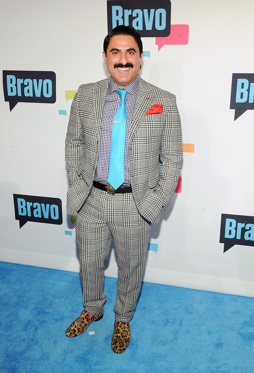 . Reza Farahan attends the 2013 Bravo New York Upfront at Pillars 37 Studios on April 3, 2013 in New York City.  (Photo by Craig Barritt/Getty Images)