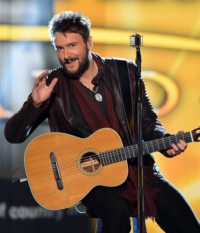 . Musician Eric Church performs onstage during the 48th Annual Academy of Country Music Awards at the MGM Grand Garden Arena on April 7, 2013 in Las Vegas, Nevada.  (Photo by Ethan Miller/Getty Images)