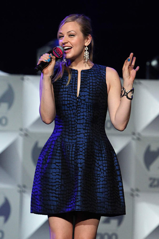 . Bethany Watson speaks onstage during Z100\'s Jingle Ball 2012, presented by Aeropostale, at Madison Square Garden on December 7, 2012 in New York City.  (Photo by Kevin Kane/Getty Images for Jingle Ball 2012)