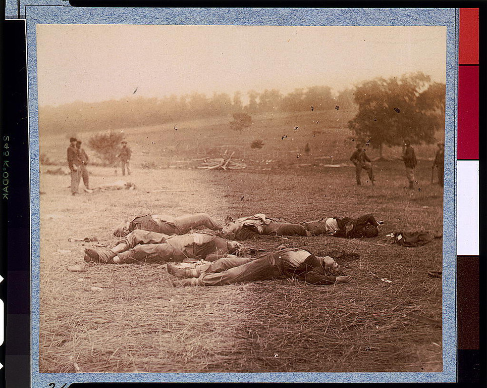 . Federal dead on the field of battle of first day, Gettysburg, Pennsylvania  - Library of Congress Prints and Photographs Division Washington, D.C.