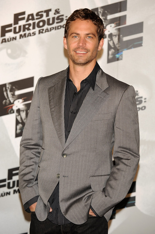 . Actor Paul Walker attends Fast and Furious photocall at the Santo Mauro Hotel on March 25, 2009 in Madrid, Spain.  (Photo by Carlos Alvarez/Getty Images)