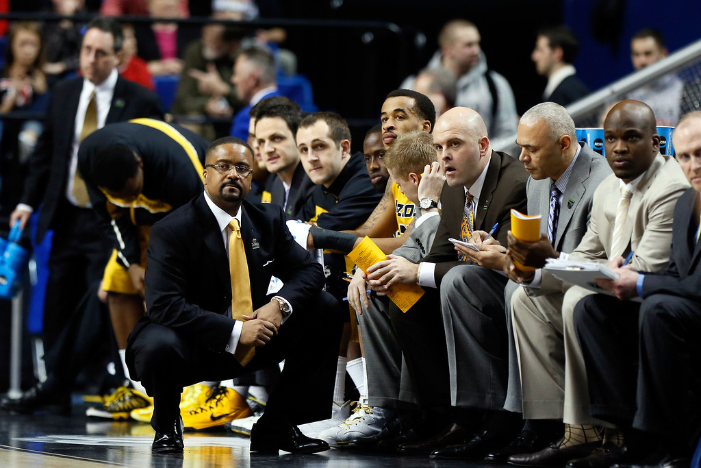 . LEXINGTON, KY - MARCH 21:  Head coach Frank Haith of the Missouri Tigers looks on from the bench against the Colorado State Rams during the second round of the 2013 NCAA Men\'s Basketball Tournament at the Rupp Arena on March 21, 2013 in Lexington, Kentucky.  (Photo by Kevin C. Cox/Getty Images)