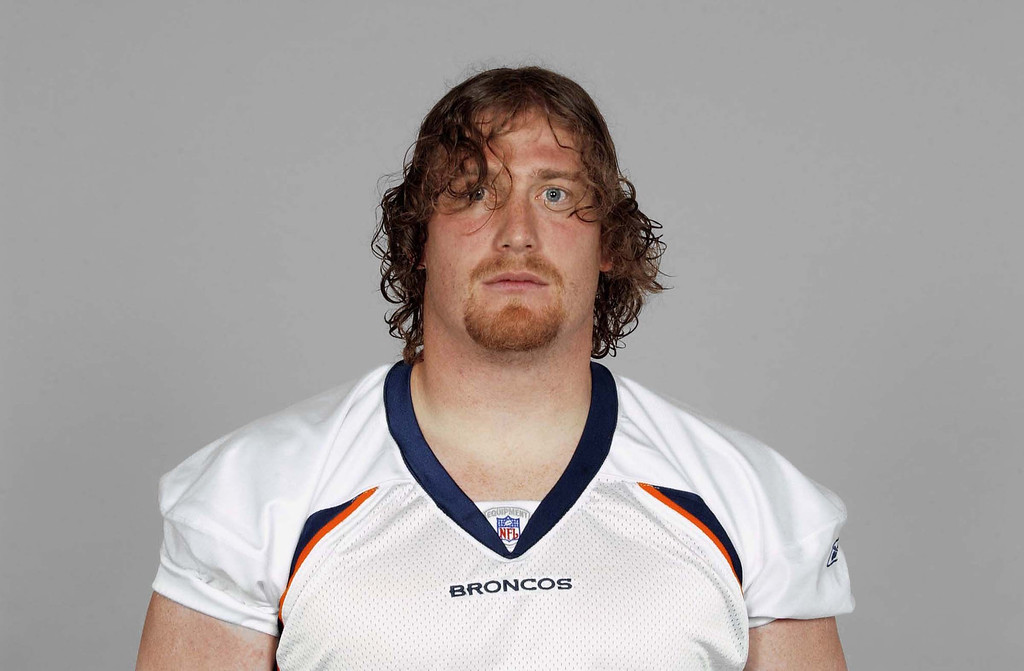 . Tom Nalen of the Denver Broncos poses for his 2007 NFL headshot at photo day in Denver, Colorado.  (Photo by Getty Images)