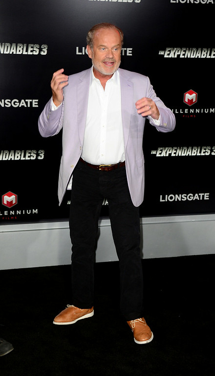 """. Actor Kelsey Grammer arrives at the Premiere Of Lionsgate Films\' \""""The Expendables 3\"""" at TCL Chinese Theatre on August 11, 2014 in Hollywood, California.  (Photo by Frazer Harrison/Getty Images)"""