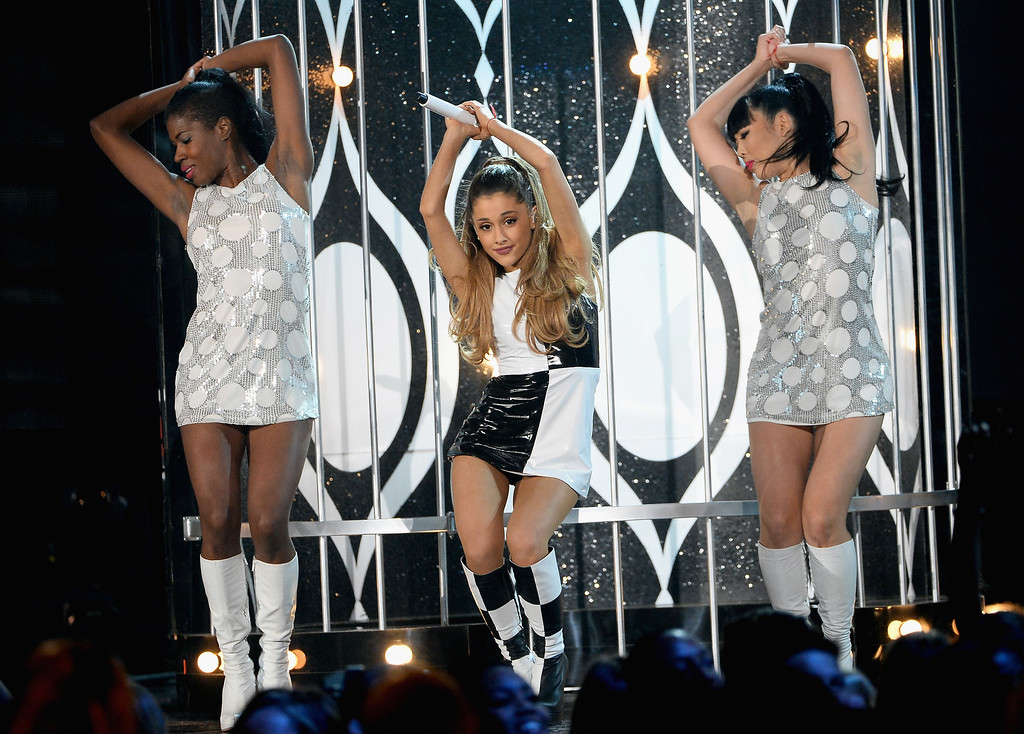 . Recording artist Ariana Grande performs onstage during the 2014 Billboard Music Awards at the MGM Grand Garden Arena on May 18, 2014 in Las Vegas, Nevada.  (Photo by Ethan Miller/Getty Images)