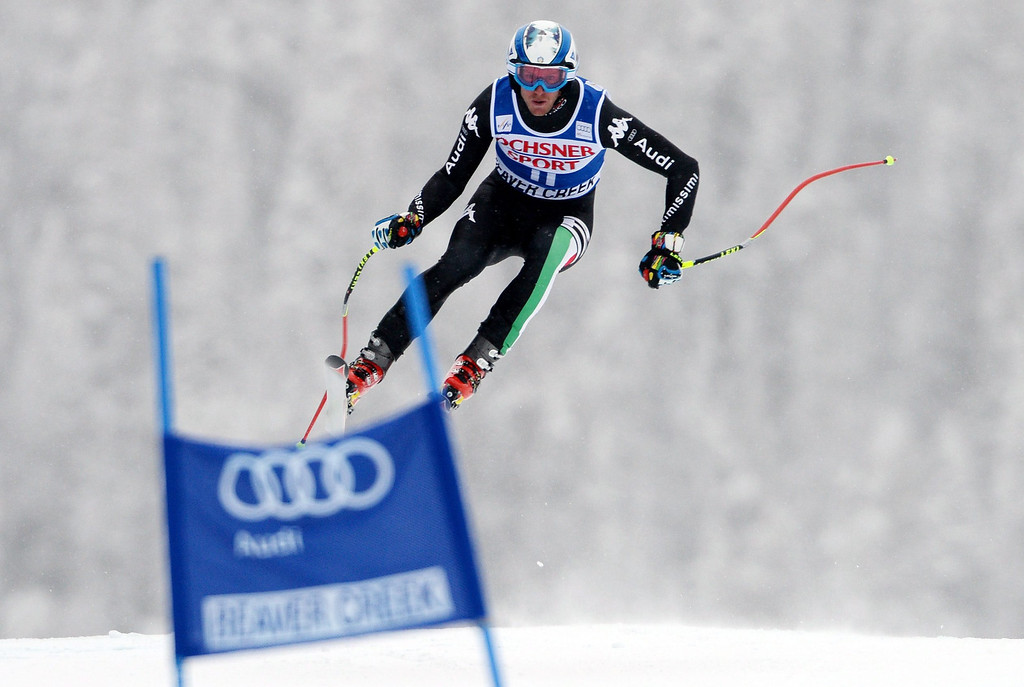 . Werner Heel, of Italy, in action during the Men\'s Super-G race at the FIS Alpine Skiing World Cup in Beaver Creek, Colorado, USA, 07 December 2013.  EPA/JUSTIN LANE