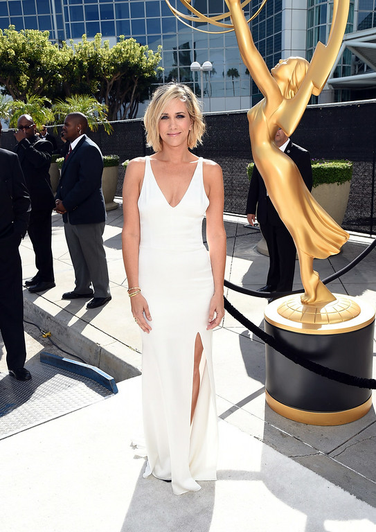 . Actress Kristen Wiig attends the 66th Annual Primetime Emmy Awards held at Nokia Theatre L.A. Live on August 25, 2014 in Los Angeles, California.  (Photo by Michael Buckner/Getty Images)