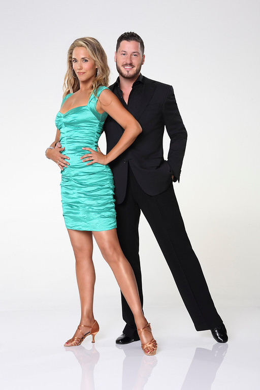 ". DANCING WITH THE STARS - ELIZABETH BERKLEY LAUREN & VAL CHMERKOVSKIY - Elizabeth Berkley Lauren partners with Valentin Chmerkovskiy. ""Dancing with the Stars\"" returns for Season 17 on MONDAY, SEPTEMBER 16 (8:00-10:01 p.m., ET), on the ABC Television Network. (ABC/Craig Sjodin)"