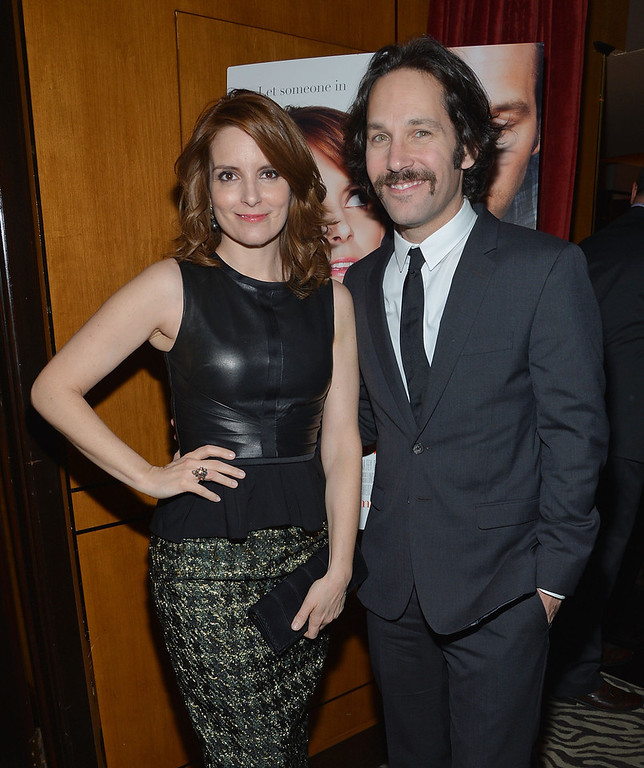 """. Actors Tina Fey (L) and Paul Rudd attend \""""Admission\"""" New York Premiere After Party at Monkey Bar on March 5, 2013 in New York City.  (Photo by Mike Coppola/Getty Images)"""