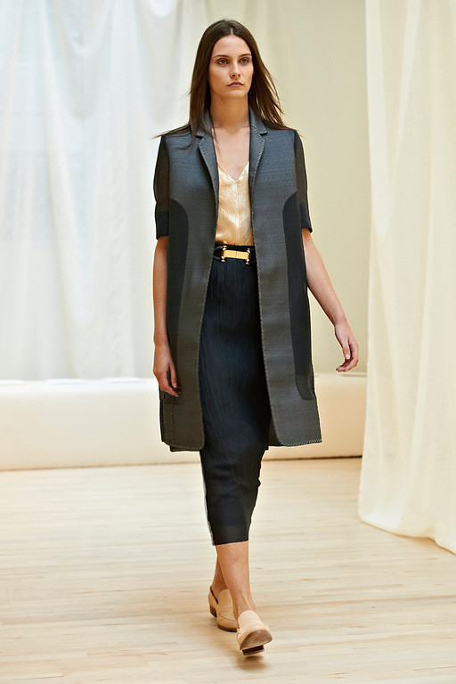 . In this photo provided by The Row, The Row\'s Spring 2014 collection is modeled during Fashion Week, Monday, Sept. 9, 2013, in New York. (AP Photo/The Row)