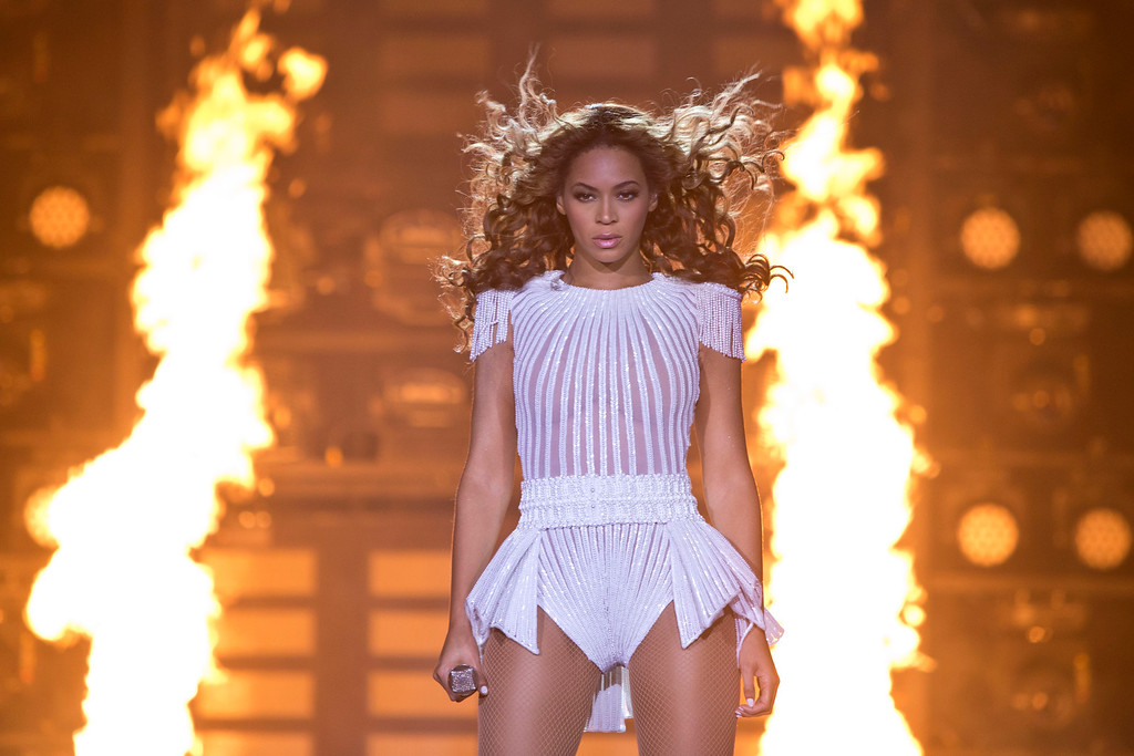 . Singer Beyonce performs on stage during her Mrs. Carter Show World Tour 2013, on Friday, April 26, 2013, at the LG Arena in Birmingham, UK. (Photo by Joel Ryan/Invision for Parkwood Entertainment/AP)