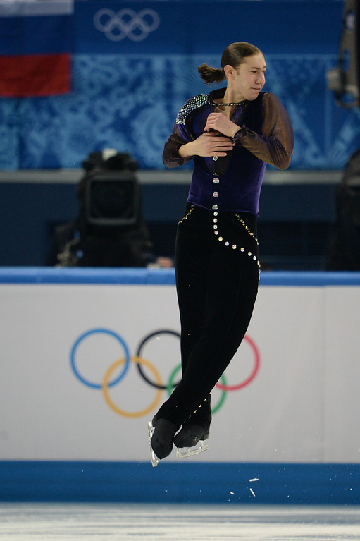 . US Jason Brown performs during the Men\'s Figure Skating Short Program at the Iceberg Skating Palace during the Sochi Winter Olympics on February 13, 2014.  YURI KADOBNOV/AFP/Getty Images