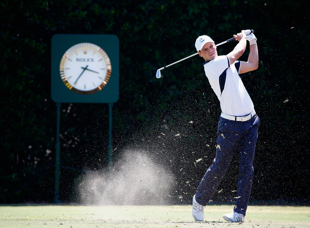 . Martin Kaymer of Germany hits his tee shot on the first hole during the final round of the 114th U.S. Open at Pinehurst Resort & Country Club, Course No. 2 on June 15, 2014 in Pinehurst, North Carolina.  (Photo by Sam Greenwood/Getty Images)