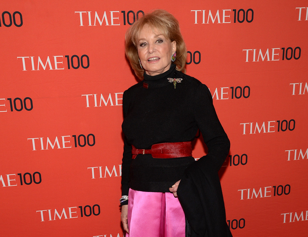 . Barbara Walters arrives at 2014 TIME 100 Gala held at Frederick P. Rose Hall, Jazz at Lincoln Center on Tuesday, April 29, 2014, in New York. (Photo by Evan Agostini/Invision/AP)