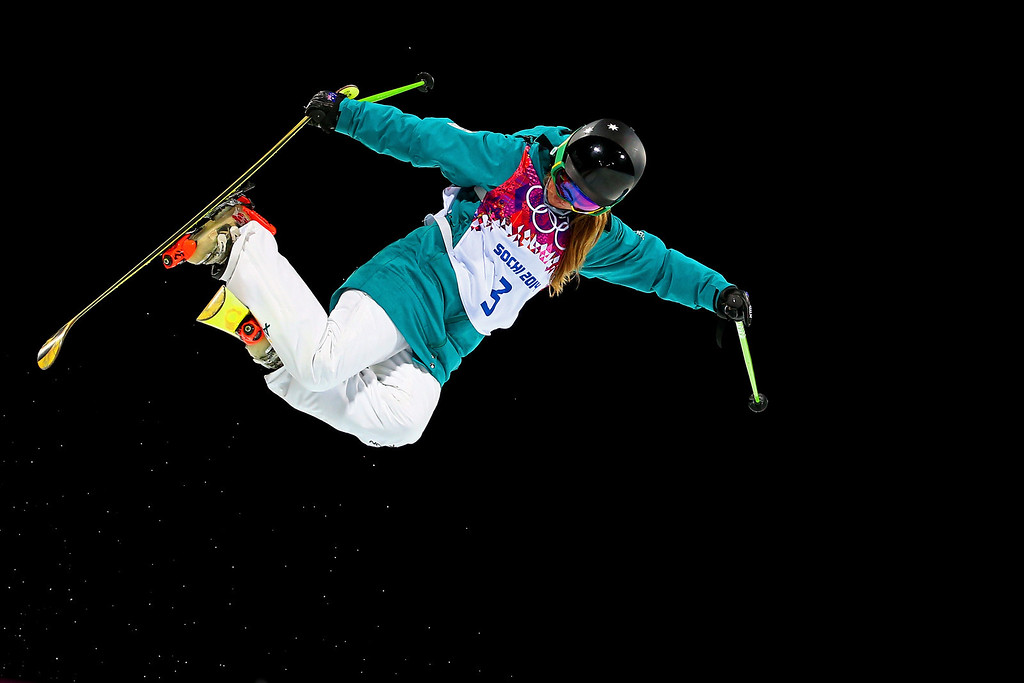 . Amy Sheehan of Australia competes in the Freestyle Skiing Ladies\' Ski Halfpipe Qualification on day thirteen of the 2014 Winter Olympics at Rosa Khutor Extreme Park on February 20, 2014 in Sochi, Russia.  (Photo by Streeter Lecka/Getty Images)