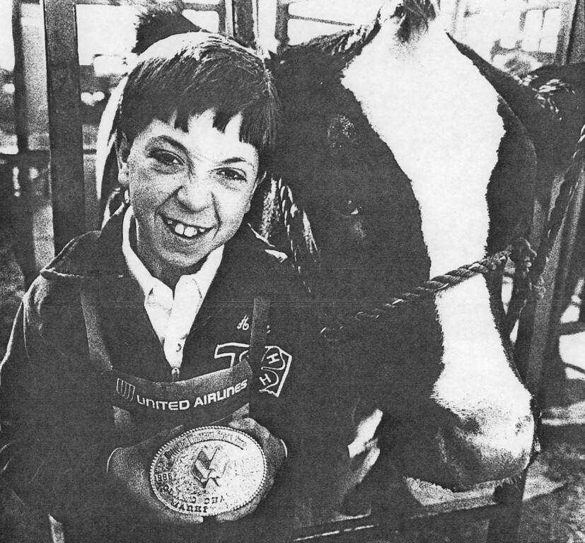 . National Western Stock Show, Brandon Horn. 1986. Denver Post Library photo archive