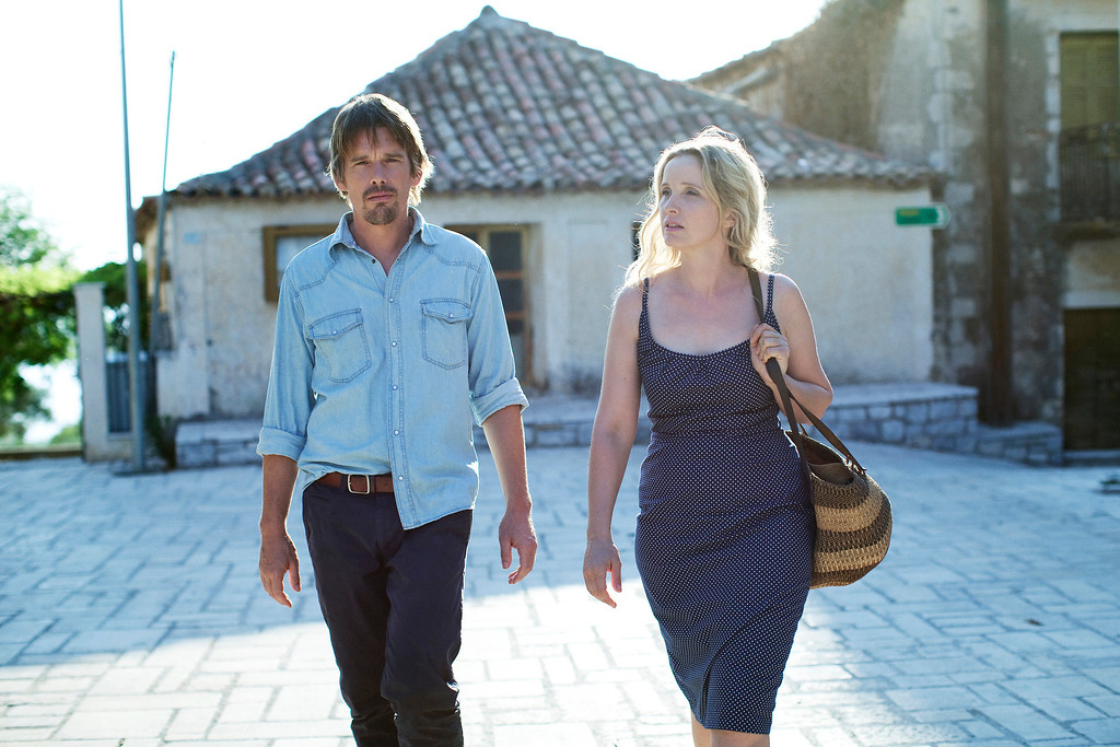 ". Arguably director Richard Linklater\'s greatest invention: couple Jesse (Ethan Hawke) and Celine (Julie Dephly) reunite in a third film, ""Before Midnight.\"" Provided by Sony Pictures Classics."