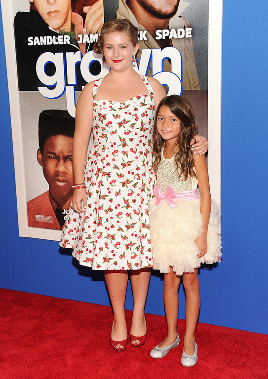 ". Actresses Ada-Nicole Sanger, left, and Alexys Nycole Sanchez attend the premiere of ""Grown Ups 2\"" at the AMC Loews Lincoln Square on Wednesday, July 10, 2013 in New York. (Photo by Evan Agostini/Invision/AP)"