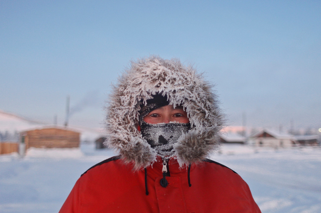 . Andrei Vinokurov, 37, a wrestling trainer, poses for a picture in the village of Tomtor in the Oymyakon valley in northeastern Russia, January 21, 2013. The coldest temperatures in the northern hemisphere since the beginning of the 20th century have been recorded in the Oymyakon valley, known as the \'Pole of Cold\', where according to the United Kingdom Met Office a temperature of -67.8 degrees Celsius (-90 degrees Fahrenheit) was registered in 1933.     REUTERS/Maxim Shemetov