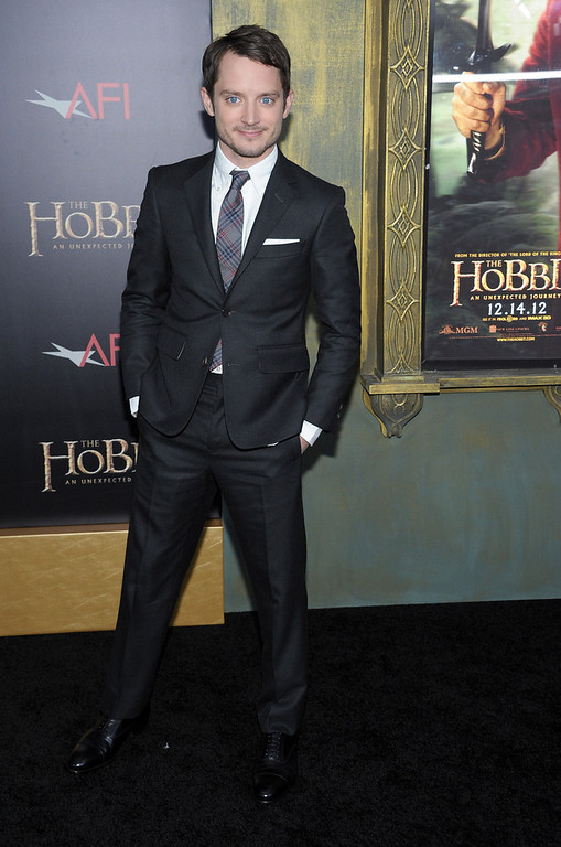 ". Elijah Wood attends ""The Hobbit: An Unexpected Journey\"" New York premiere benefiting AFI at Ziegfeld Theater on December 6, 2012 in New York City.  (Photo by Michael Loccisano/Getty Images)"
