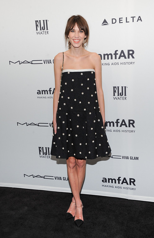 . Model Alexa Chung attends amfAR\'s New York gala at Cipriani Wall Street on Wednesday, Feb. 6, 2013 in New York. (Photo by Evan Agostini/Invision/AP)