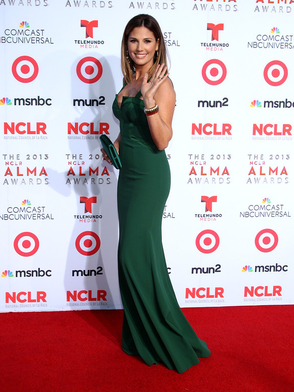. Daisy Fuentes arrives at the NCLR ALMA Awards at the Pasadena Civic Auditorium on Friday, Sept. 27, 2013, in Pasadena, Calif. (Photo by Paul Hebert/Invision/AP)