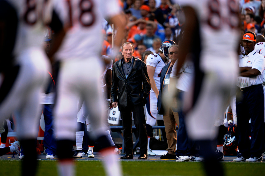 . Pat Bowlen watching his team late in the 4th quarter as the  Denver Broncos vs the San Diego Chargers at Qualcomm Stadium November 10, 2013 San Diego, CA. (Photo By Joe Amon/The Denver Post)