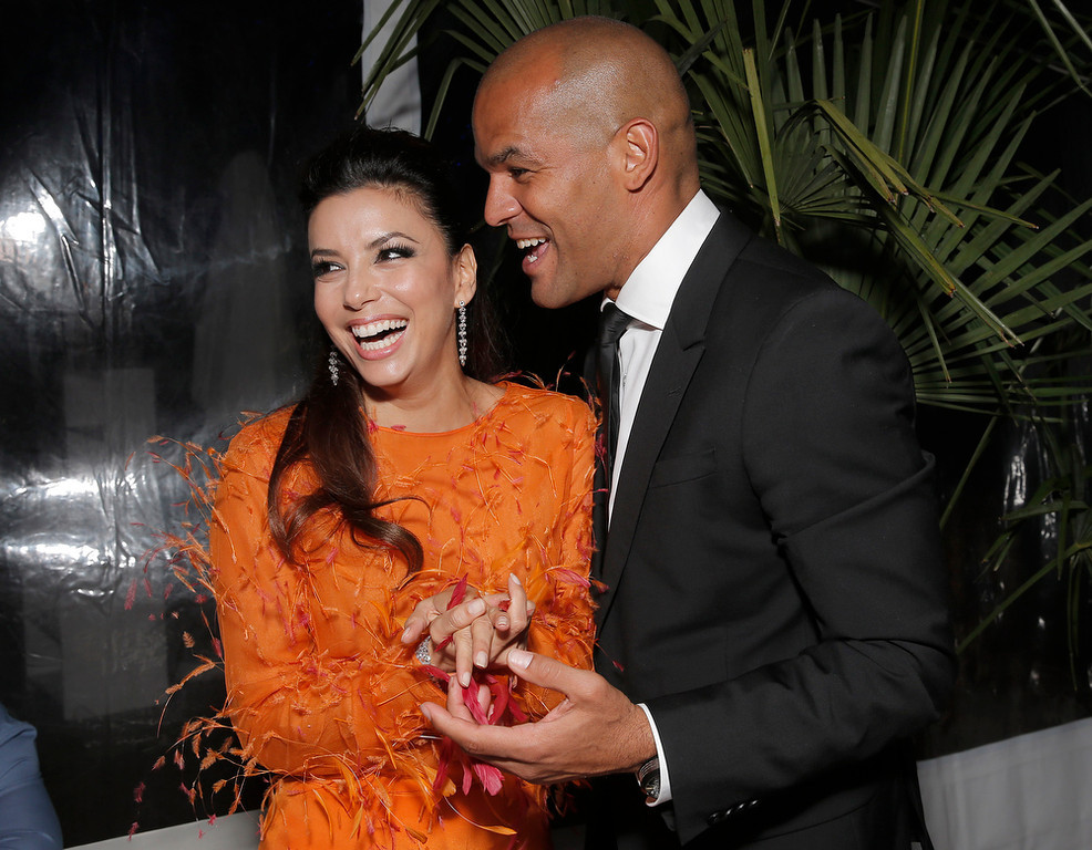 . Eva Longoria and Amaury Nolasco attend the Eva Longoria & Global Gift Gala After Party at Nikki Beach Cannes in Cannes, southern France, Sunday, May 19, 2013. (Photo by Todd Williamson/Invison/AP Images)