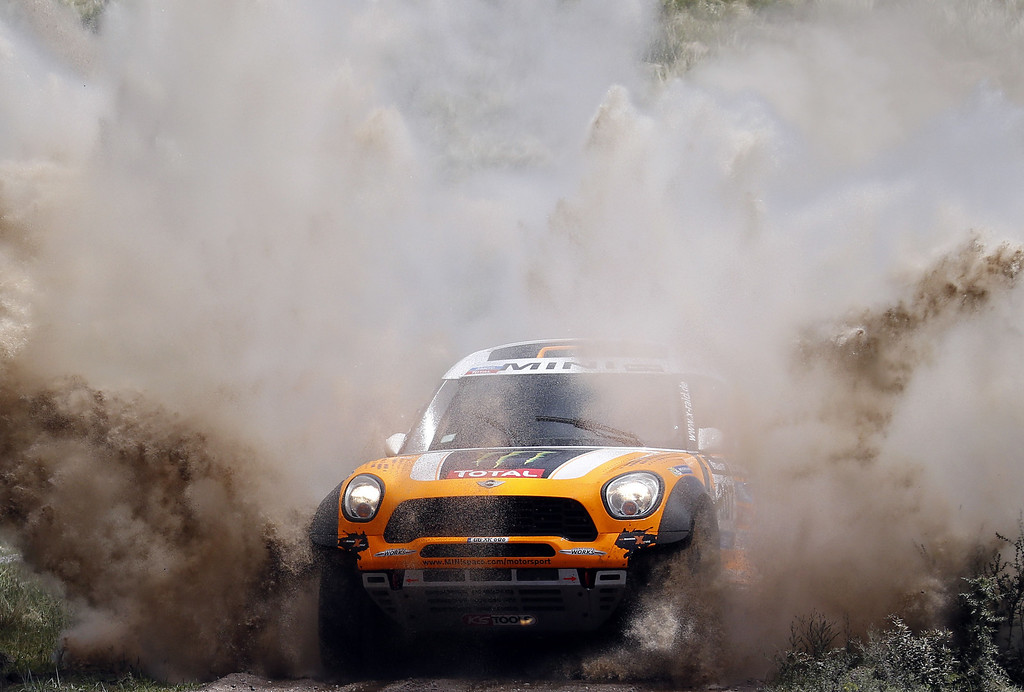 . Mini\'s driver Orlando Terranova of Argentina, and co-driver Paulo Fiuza, compete during the Dakar Rally 2014 Stage 1 between Rosario and San Luis, Argentina, on January 5, 2014.    FRANCK FIFE/AFP/Getty Images