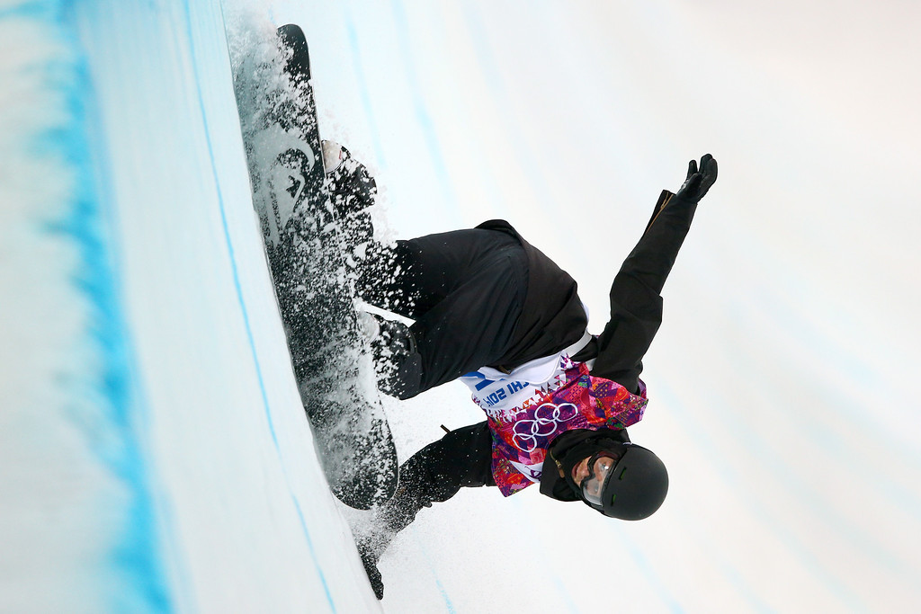 . Iouri Podladtchikov of Switzerland competes in the Snowboard Men\'s Halfpipe Semifinal on day four of the Sochi 2014 Winter Olympics at Rosa Khutor Extreme Park on February 11, 2014 in Sochi, Russia.  (Photo by Cameron Spencer/Getty Images)