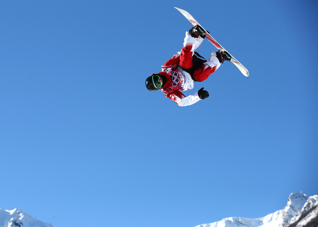 . Charles Reid of Canada competes in the Men\'s Slopestyle Qualification during the Sochi 2014 Winter Olympics at Rosa Khutor Extreme Park on February 6, 2014 in Sochi, Russia.  (Photo by Cameron Spencer/Getty Images)