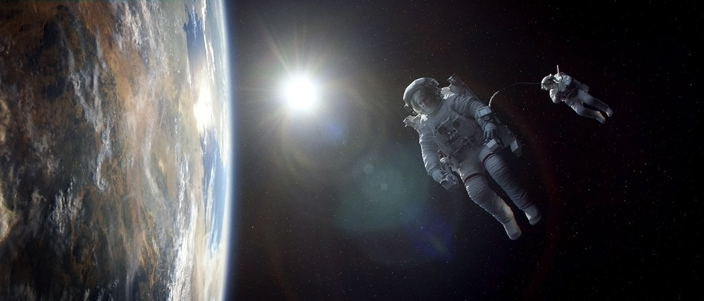 ". 2014 Academy Award Nominee for Best Picture: ""Gravity.\"" (AP Photo/Warner Bros. Pictures)"