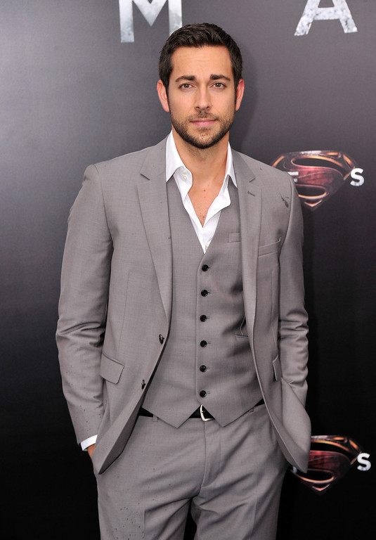 """. Actor Zach Levi attends the \""""Man Of Steel\"""" world premiere at Alice Tully Hall at Lincoln Center on June 10, 2013 in New York City.  (Photo by Stephen Lovekin/Getty Images)"""