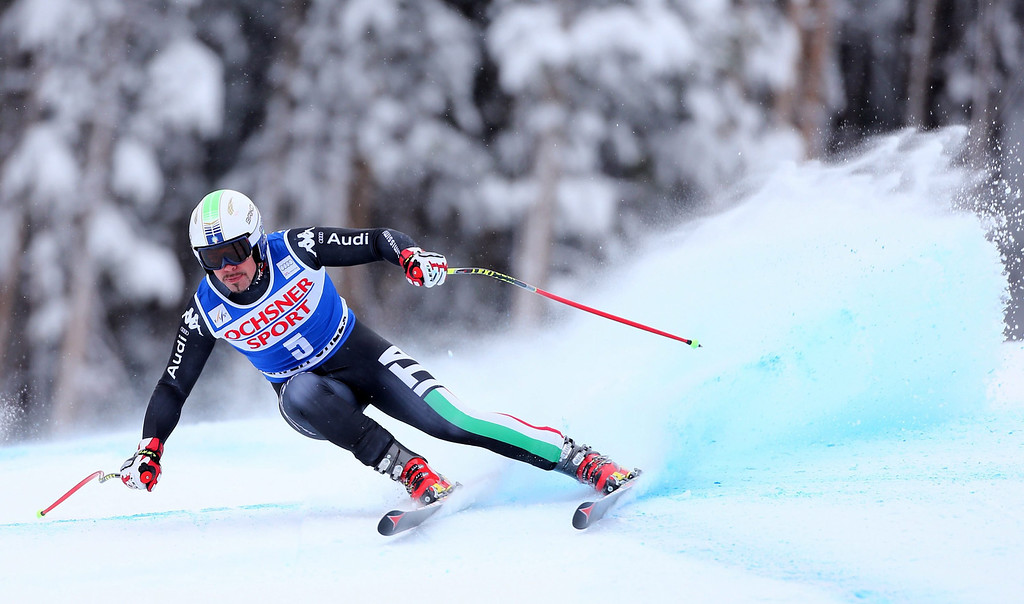 . Italy\'s Peter Fill in action during the Men\'s Super G at the FIS Alpine Skiing World Cup in Beaver Creek, Colorado, USA, 07 December 2013.  EPA/George Frey