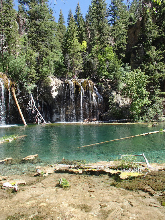. Hanging Lake trail near Glenwood Springs is short but steep. The reward: a stunning, emerald green lake at the top of the 1.2-mile trek. Kids like to play in the spray at Spouting Rock, a waterfall that feeds the lake from above.  Photo provided by Kara Williams