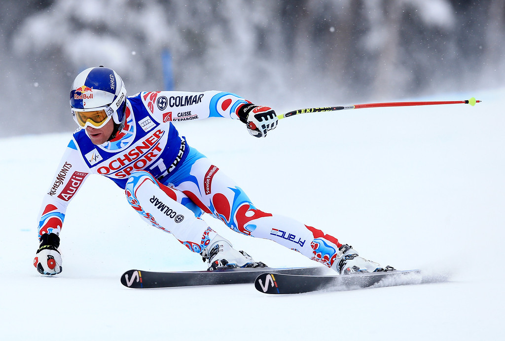 . Alexis Pinturault of France in action during the 2013 Audi FIS Beaver Creek World Cup Men\'s Super G race on December 7, 2013 in Beaver Creek, Colorado.  (Photo by Doug Pensinger/Getty Images)
