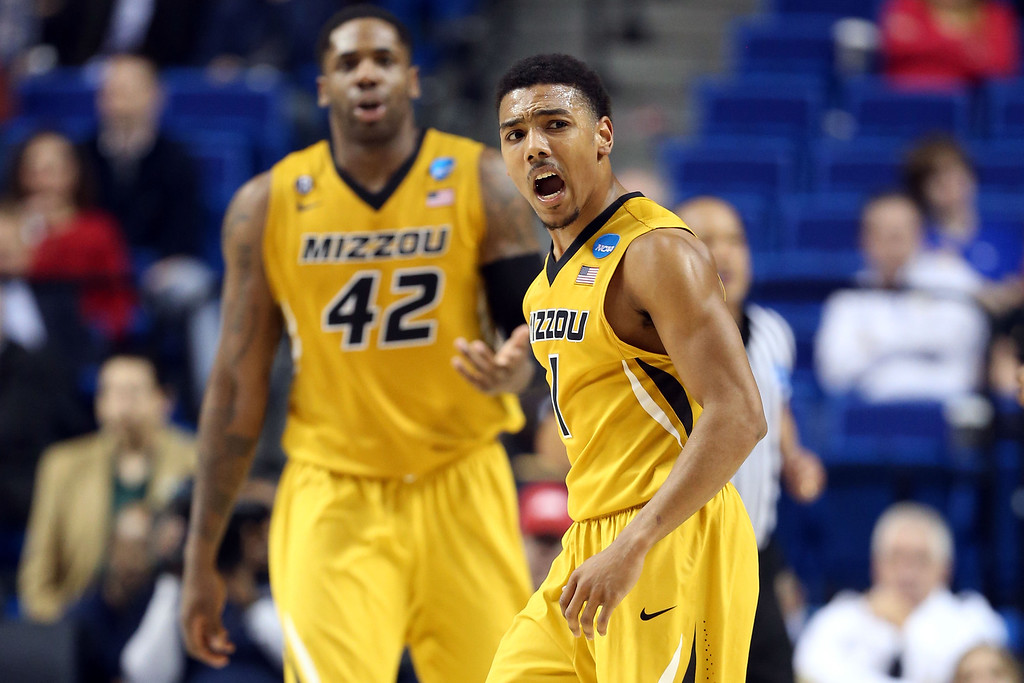 . LEXINGTON, KY - MARCH 21:  Phil Pressey #1 of the Missouri Tigers reacts against the Colorado State Rams during the second round of the 2013 NCAA Men\'s Basketball Tournament at the Rupp Arena on March 21, 2013 in Lexington, Kentucky.  (Photo by Andy Lyons/Getty Images)