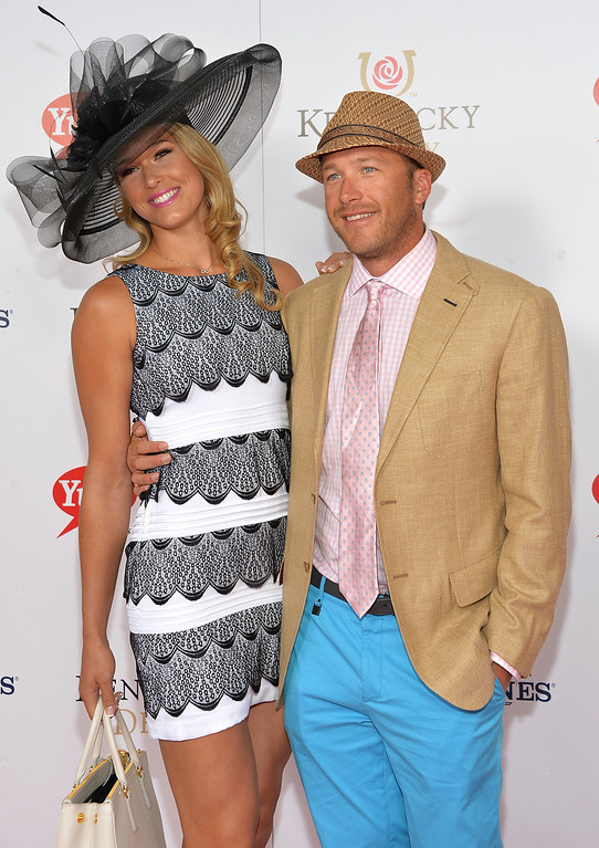 . LOUISVILLE, KY - MAY 04:  Morgan Miller and Bode Miller celebrate the 139th Kentucky Derby with Moet & Chandon at Churchill Downs on May 4, 2013 in Louisville, Kentucky.  (Photo by Mike Coppola/Getty Images for Moet & Chandon)