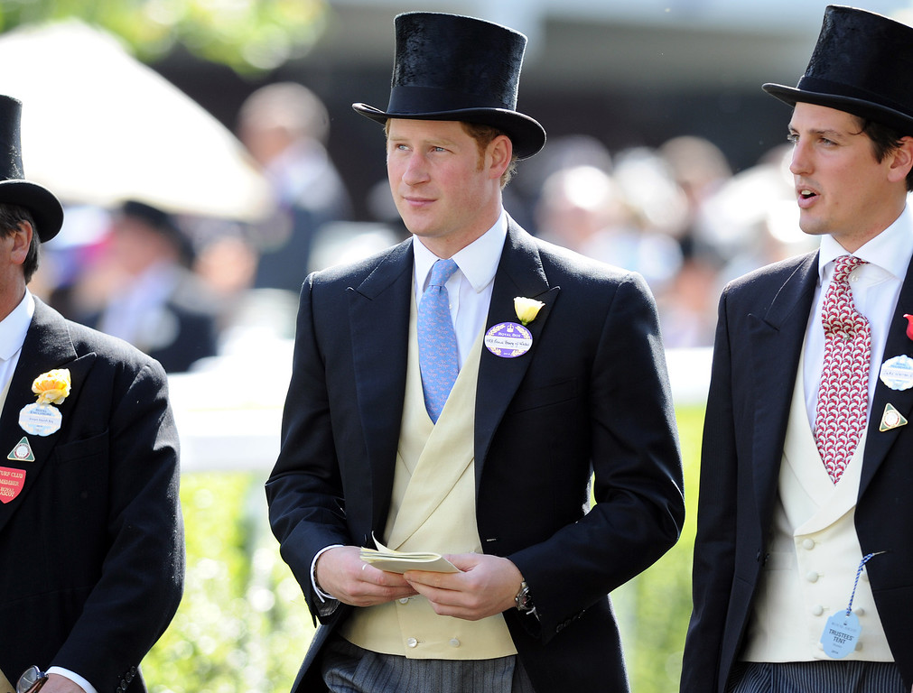. Prince Harry (C) attends Day 1 of Royal Ascot at Ascot Racecourse on June 17, 2014 in Ascot, England.  (Photo by Stuart C. Wilson/Getty Images)