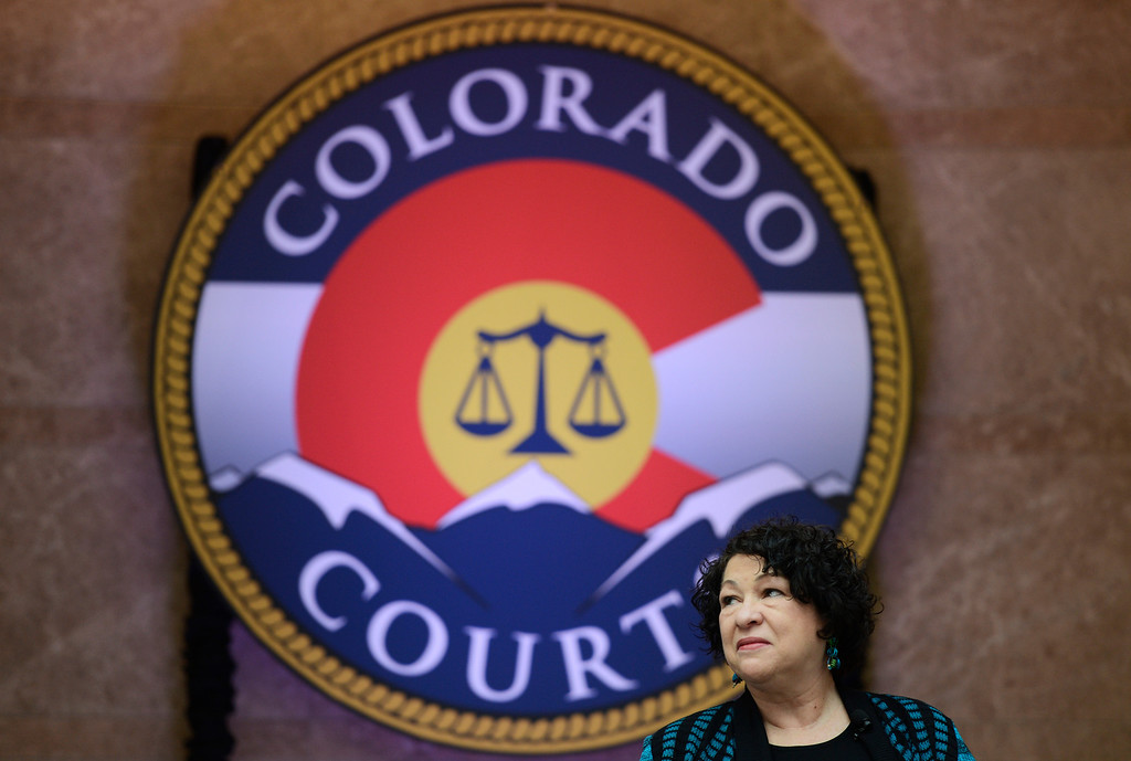 . DENVER, CO-May 02, 2013: Supreme Court Justice Sonia Sotomayor came to Denver for the dedication of  the new Ralph L. Carr Colorado Judicial Center, May 02, 2013. (Photo By RJ Sangosti/The Denver Post)