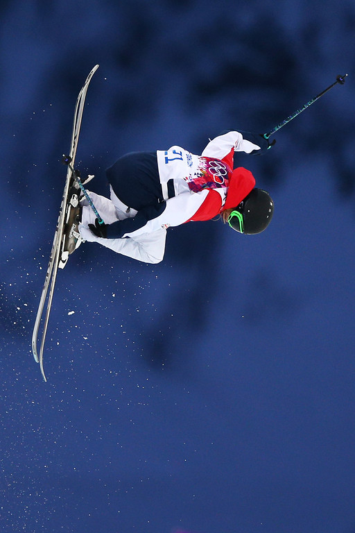 . Emma Lonsdale of Great Britain competes in the Freestyle Skiing Ladies\' Ski Halfpipe Qualification on day thirteen of the 2014 Winter Olympics at Rosa Khutor Extreme Park on February 20, 2014 in Sochi, Russia.  (Photo by Cameron Spencer/Getty Images)