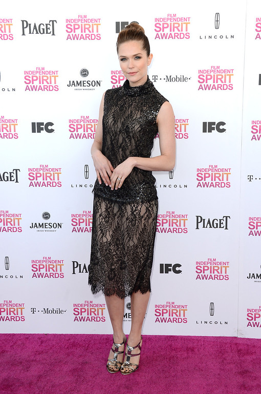 . SANTA MONICA, CA - FEBRUARY 23:  Actress Katie Aselton attends the 2013 Film Independent Spirit Awards at Santa Monica Beach on February 23, 2013 in Santa Monica, California.  (Photo by Jason Merritt/Getty Images)