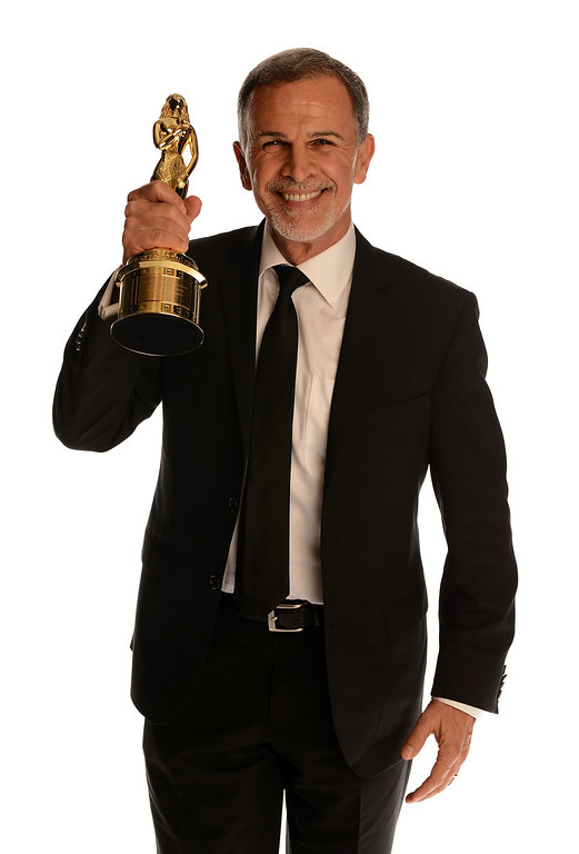 . PASADENA, CA - SEPTEMBER 27:  Honoree Tony Plana poses with the Ricardo Montalban Award for Lifetime Achievement in the portrait studio during the 2013 NCLR ALMA Awards at Pasadena Civic Auditorium on September 27, 2013 in Pasadena, California.  (Photo by Mark Davis/Getty Images for NCLR)
