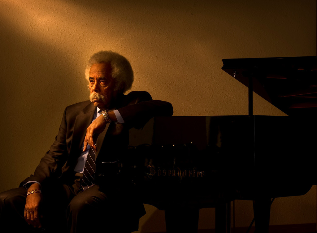. Piano player Purnell Steen at the Bosendorfer piano in the recital room  at Onofrio Piano on 1332 S.  Broadway on Tuesday, January 31, 2012.    Cyrus McCrimmon, The Denver Post