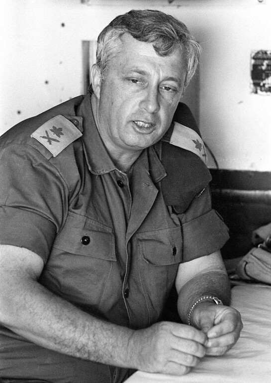 . A handout file picture dated 29 May 1967 provided by the Israeli Government Press Office shows then Israeli army Major-General Ariel Sharon during the Six Day War in the Sinai desert.   EPA/GPO