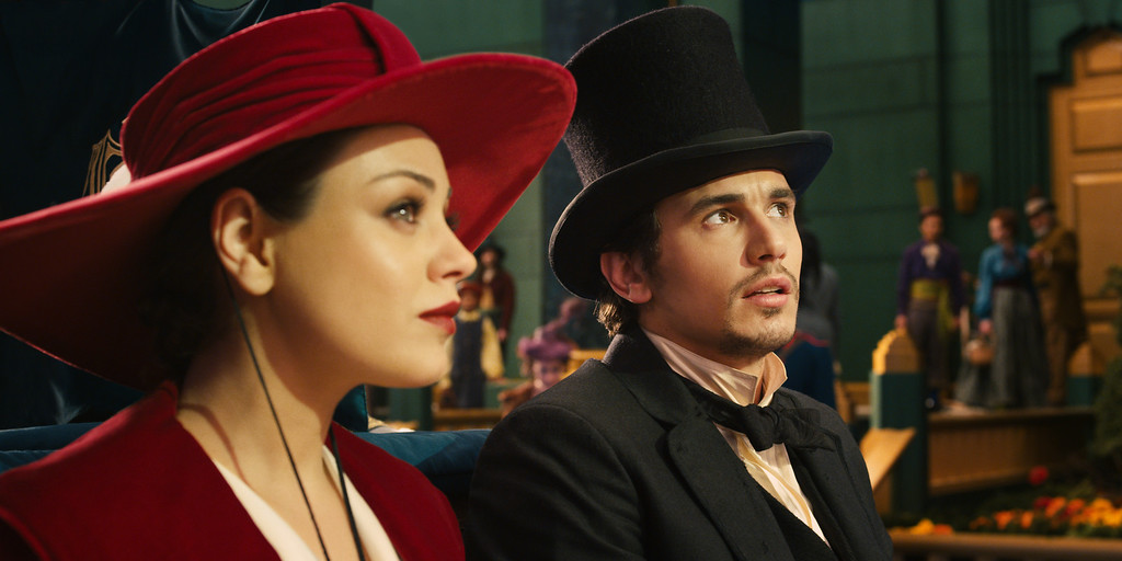 """. \""""OZ: THE GREAT AND POWERFUL\"""" Mila Kunis, left; James Franco, right ©Disney Enterprises, Inc. All Rights Reserved."""