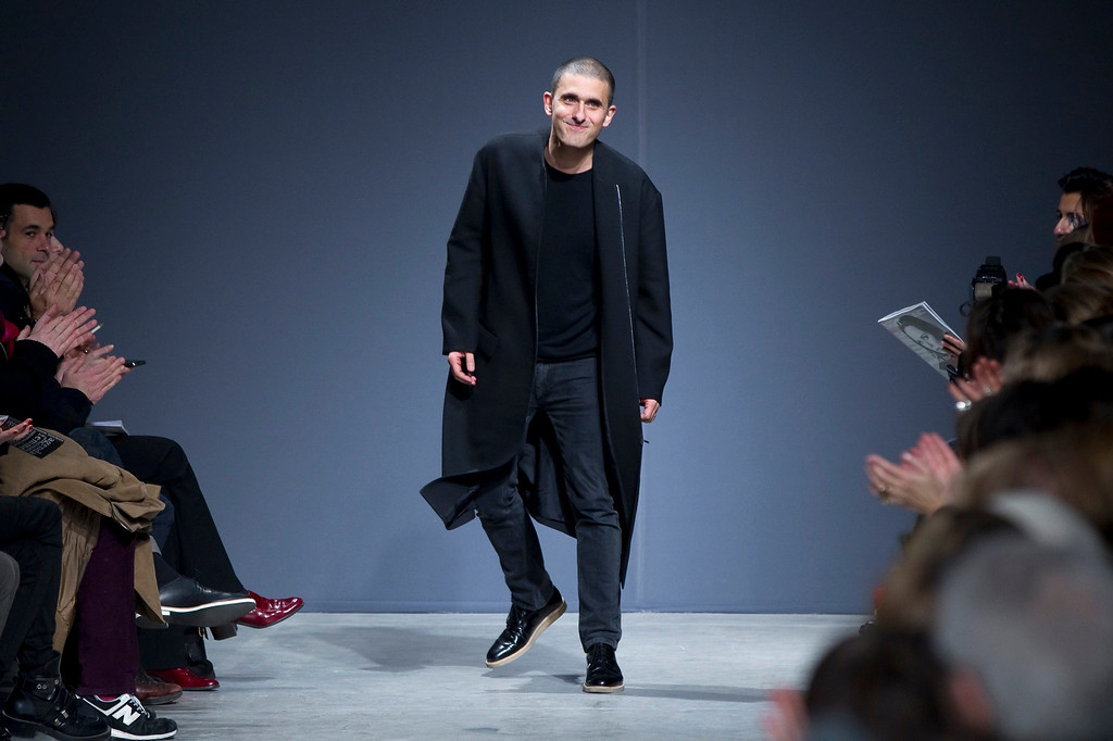 . Portuguese designer Felipe Oliveira Baptista appears at the end of his Fall-Winter 2013/2014 women\'s ready-to-wear fashion show during Paris fashion week February 27, 2013.      REUTERS/Gonzalo Fuentes