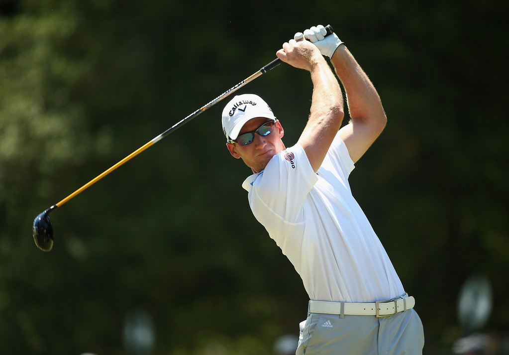 . Garth Mulroy of South Africa hits his tee shot on the third hole during the final round of the 114th U.S. Open at Pinehurst Resort & Country Club, Course No. 2 on June 15, 2014 in Pinehurst, North Carolina.  (Photo by Streeter Lecka/Getty Images)