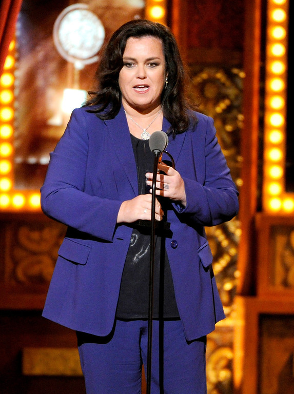 . Rosie O\'Donnell accepts the Isabelle Stevenson Award on stage at the 68th annual Tony Awards at Radio City Music Hall on Sunday, June 8, 2014, in New York. (Photo by Evan Agostini/Invision/AP)