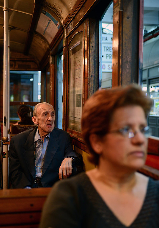 . People travel on a Le Burgeoise wagon of the A Line subway, in Buenos Aires, on January 11, 2013 during the so called last ride of the historic trains. The Line A will be closed betwen January 12 and March 8 following a decision by Buenos Aires city Mayor Mauricio Macri to replace the fleet with Chinese-made wagons. Line A was the first subway line to work in the southern hemisphere and its trains are among the ten oldest still working daily. The La Brugeoise wagons were constructed between 1912 and 1919 by La Brugeoise et Nicaise et Delcuve in Belgium.   LEO LA VALLE/AFP/Getty Images